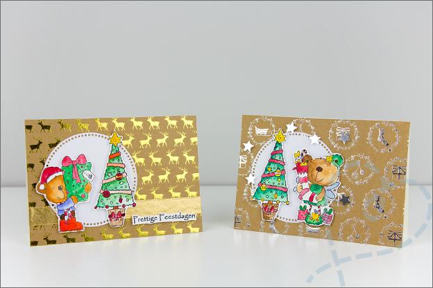 Clear stamps kerstkaarten maken