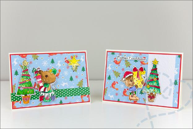 kerstkaarten met clear stamps