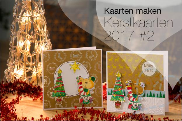 Kerstkaarten maken met clear stamps