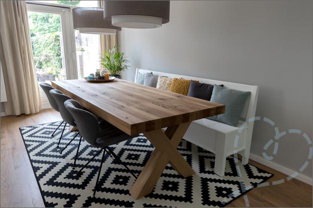 nieuw interieur ons huis eettafel