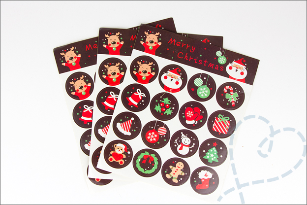 Aliexpress shoplog kerst 2018 stickers kerstman