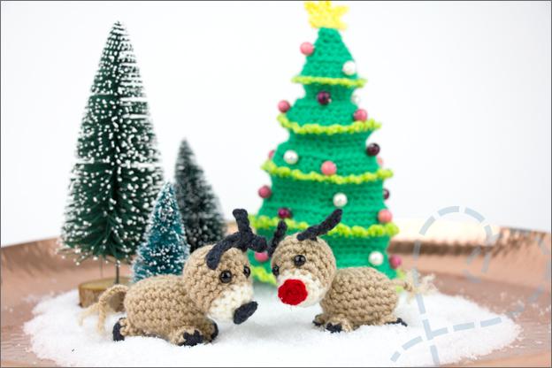 Haken kerst mini wereld eindresultaat