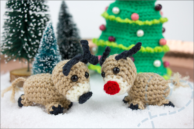 Haken kerst mini wereld hertjes hert