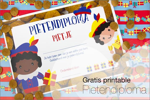 printable gratis pietendiploma printen