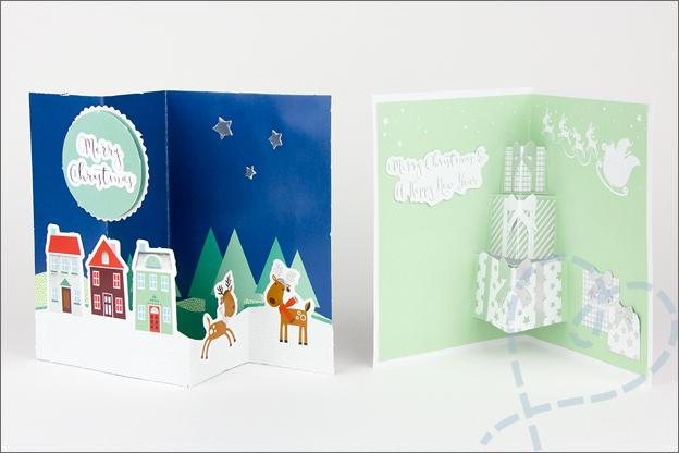 Review Action kerstkaarten maken Zelfgemaakt pop up