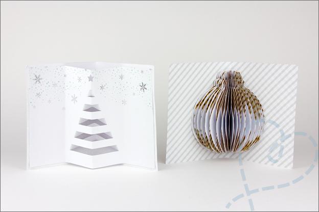 Review Action kerstkaarten maken honeycomb binnenkant