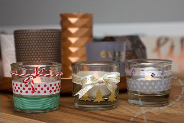 kaarsen versieren voor kerst last minute