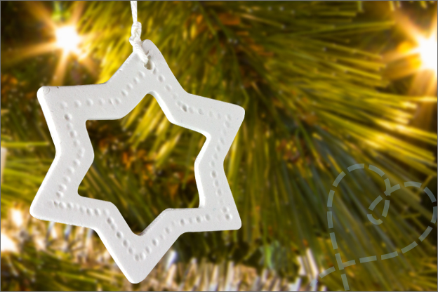 kerstboom versiering klei zelf maken