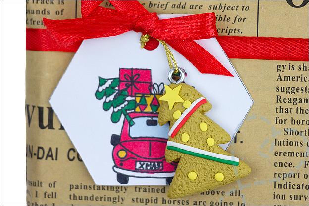 DIY kerst Cadeaulabels inkleuren stiften voorbeeld