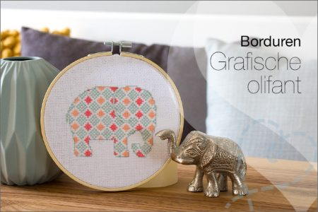 Borduren #6: Grafische Olifant