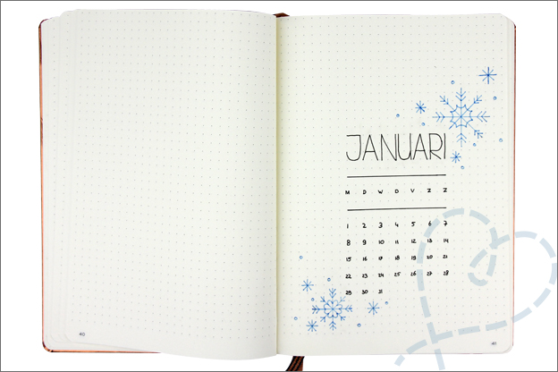 Bullet journal beginnen cover januari 2018