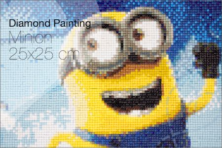 Diamond painting #2: grote Minion 25×25 cm AliExpress