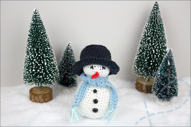 Haken patroon sneeuwpop