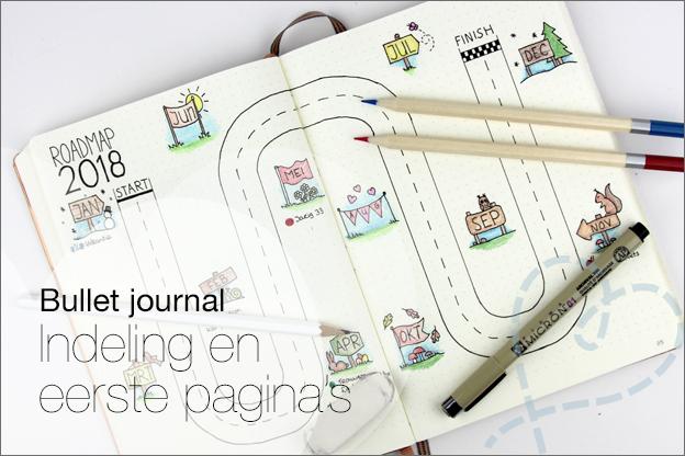 Bullet journal inspiratie pagina indeling inhoud