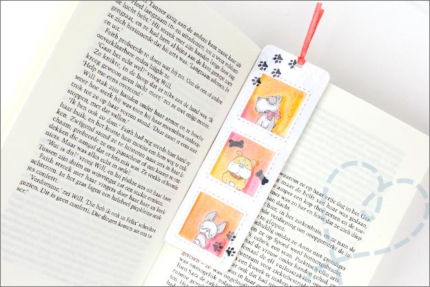 DIY boekenlegger hondjes zelf gemaakt