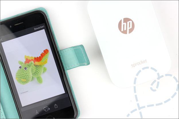 HP Sprocket review aansluiten smartphone iphone mini fotoprinter