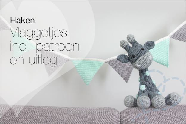 Haken vlaggetjes slinger gratis patroon