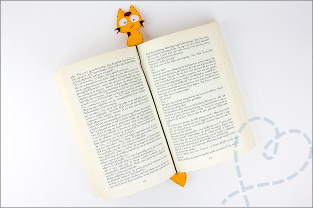 Review AliExpress viltpakketje katjes boekenlegger eindresultaat