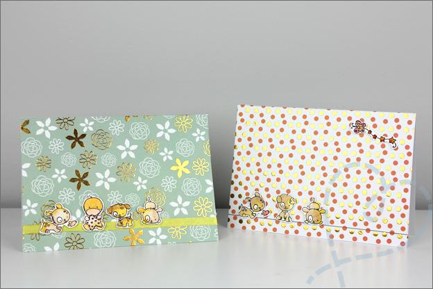 Zelf maken kaarten clear stamps action washi sheets