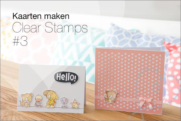 Voorkeur Zelf kaartjes maken: Kaarten maken met Clear Stamps - Nobody ELSe #ZK37