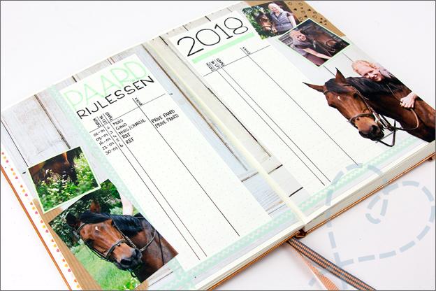 Bullet journal inspiratie jaar paardrijden sport tracker
