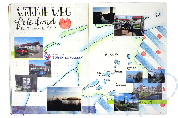 Bullet Journal inspiratie april vakantie friesland