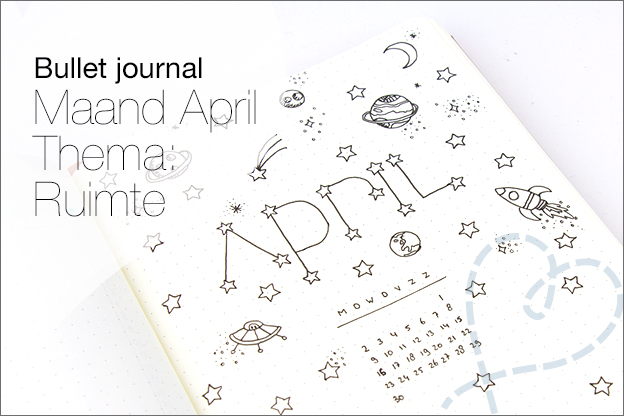 Bullet journal inspiratie maand april ruimte space