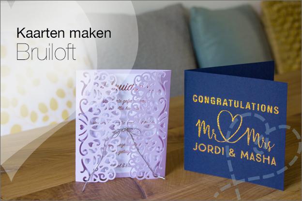 Zelf trouwkaarten maken bruiloft