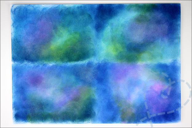 Kaart maken onderwaterwereld achtergrond zelf gemaakt