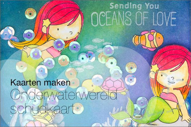 Onderwaterwereld kaart maken knutselen zelfgemaakt