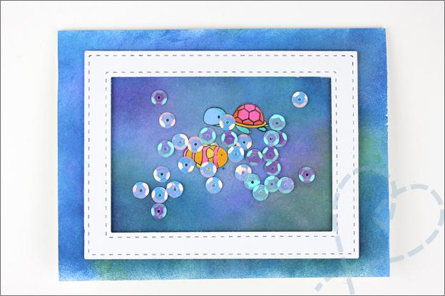 Schudkaart onderwater wereld zeemeerminnen
