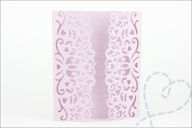 kaart bruiloft gevouwen chique klassiek