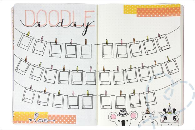 Bullet Journal maand mei doodle a day