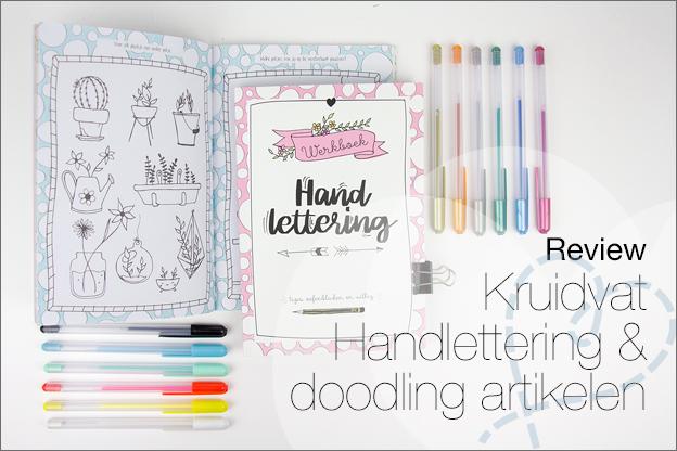 Kruidvat handlettering doodling producten