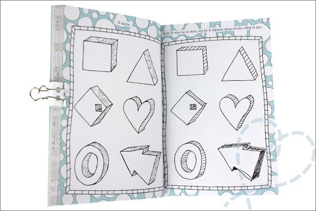 Kruidvat werkboek doodling 3d objecten