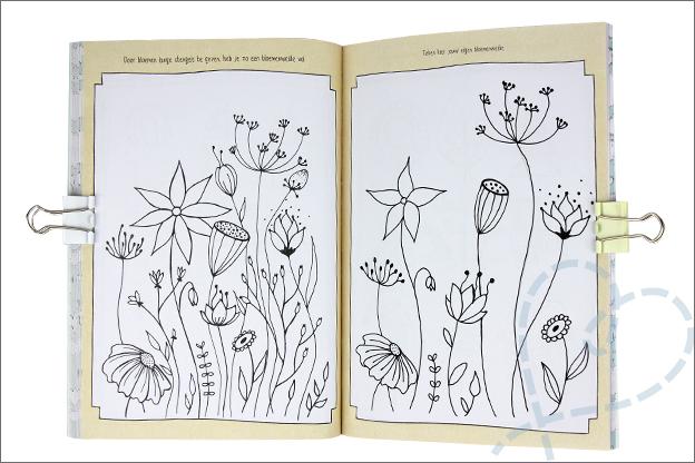 Kruidvat werkboek doodling Bloemen