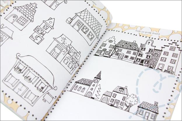 Kruidvat werkboek doodling huizen