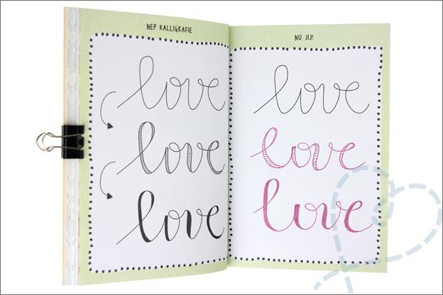 Kruidvat werkboek handlettering kalligrafie