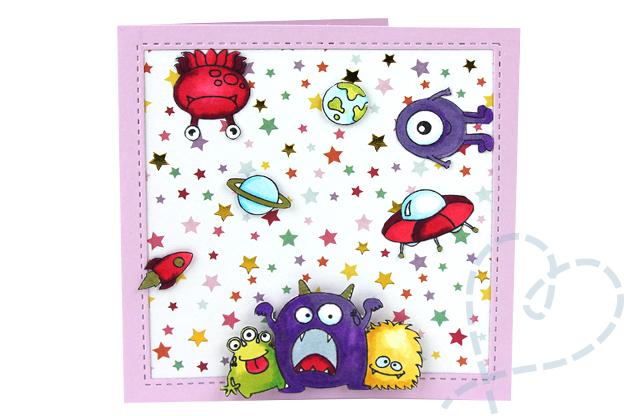Zelfgemaakte kaarten verjaardag kind kaart3