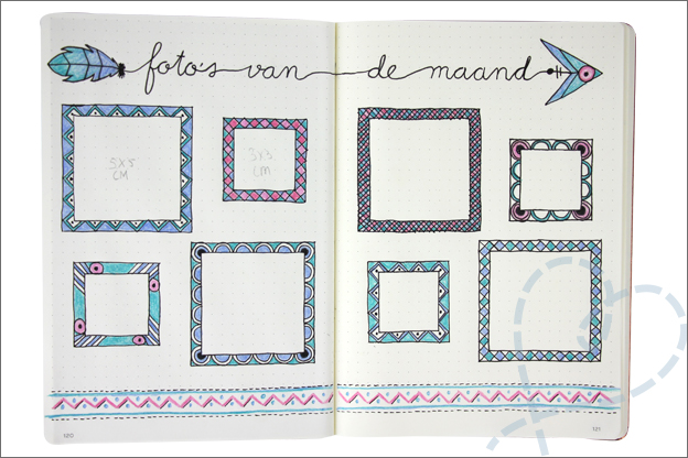Bullet journal september fotos maand kaders