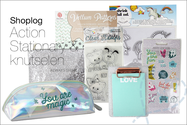 Shoplog action back to school Stationary knutselen DIY