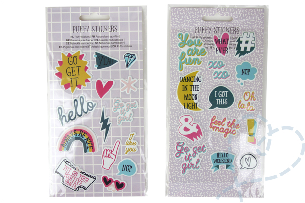 Shoplog action puffy stickers planner agenda