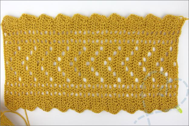 Bourgondisch sjaaltje makkelijk makkelijk patroon