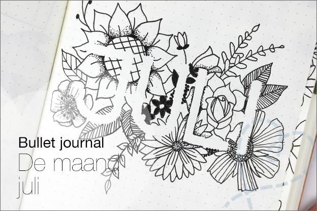 Bullet_journal juli thema bloemen tekenen voorbeelden inspiratie