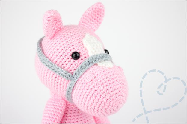 paard haken piem roze hoofd