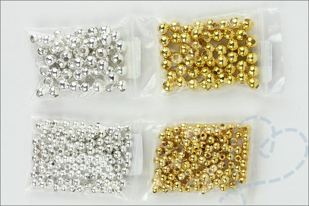 AliExpress sieraden maken ronde kralen goud zilver