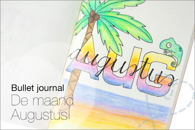 Bullet journal augustus thema hawaii zomer tropisch voorbeelden inspiratie
