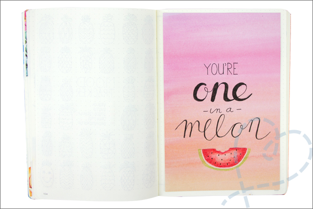 Bullet journal augustus quote you are one in a melon