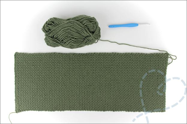 Haken beginner sjaal patroon granietsteek