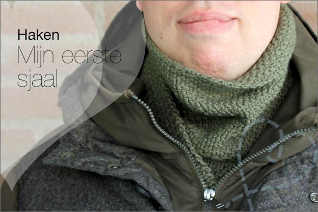 Haken eerste sjaal beginner granietsteek